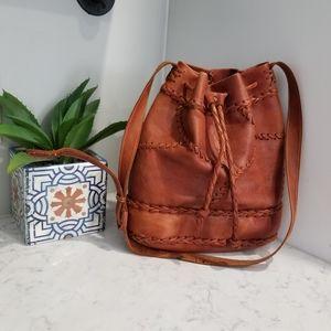 Handbags - HANDMADE LEATHER BUCKET BAG